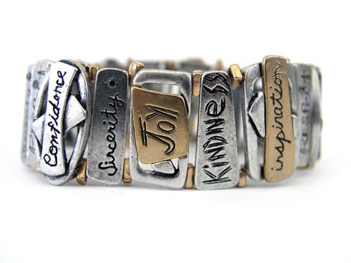inspiring words bracelet