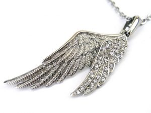 Crystal & Angel Wing Necklaces